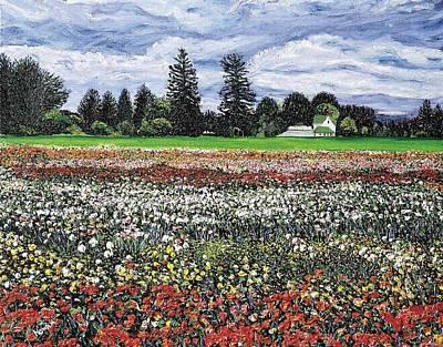 Field Of Flowers Art Print by Richard Nowak