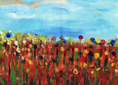 Wall Art - Painting - Field Of Flowers by Tina Partridge
