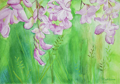 Painting - Field Of Hanging Wildflowers Watercolor Painting by Michelle Constantine