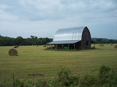 Wall Art - Photograph - Arkansas Barn With Hay Field by Carolyn Hebert