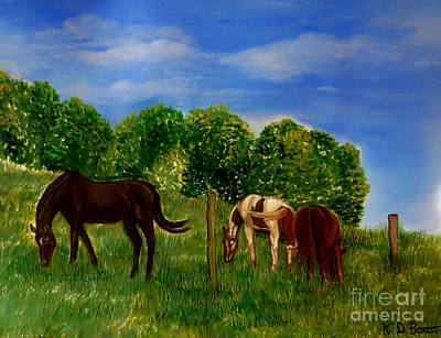 Painting - Field Of Horses' Dreams by Kimberlee Baxter