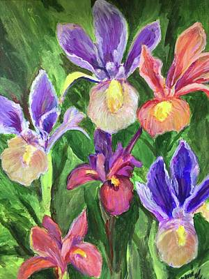 Painting - Field Of Iris by Charme Curtin