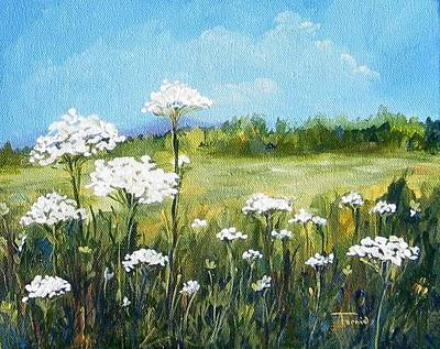 Queen Anne Painting - Field Of Lace  by Torrie Smiley