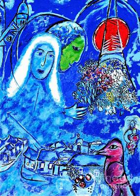 Marc Chagall Painting - Field Of Mars - Tribute To Chagall by Art by Danielle