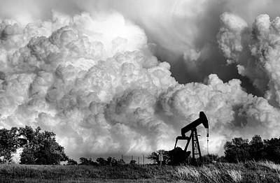 Oil Rig Photograph - Field Of Nightmares  by Karen M Scovill