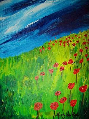 field of Poppies 2 Art Print by Misty VanPool