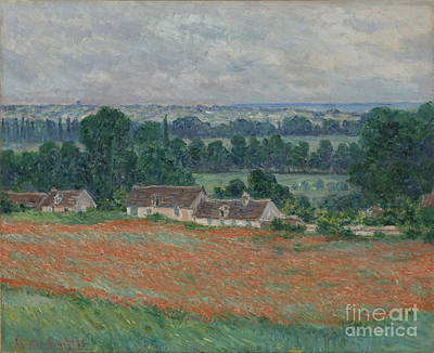 Poppies Painting - Field Of Poppies by Celestial Images