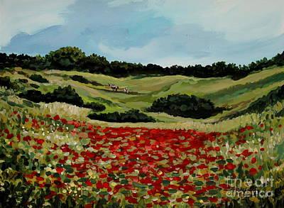 Elizaart Painting - Field Of Poppies by Elizabeth Robinette Tyndall