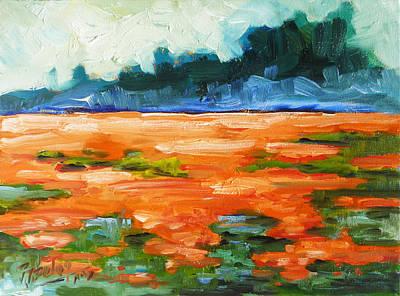 Meadow Painting - Field Of Poppies by Irek Szelag