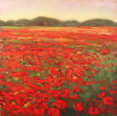Painting - Field Of Poppies Landscape by Robie Benve
