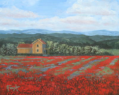 Painting - Field Of Red by Gene Foust