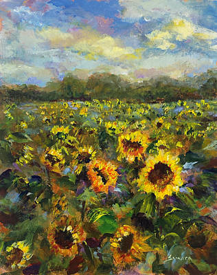 Painting - Field Of Smiles by Laurie Samara-Schlageter