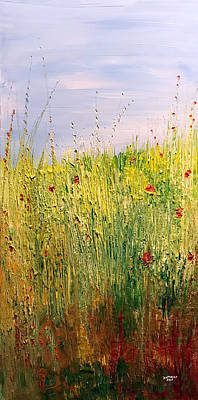 Painting - Field Of Wild Flowers by Dorothy Maier