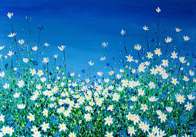 Provence Painting - Field Of Wild Flowers by K McCoy