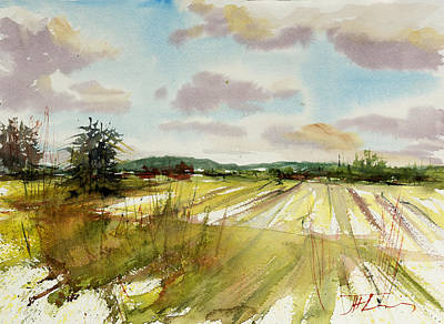 Painting - Field On The Lane by Judith Levins