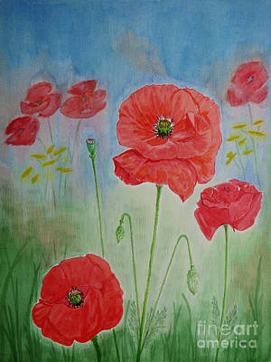 Painting - Field Poppies by Yvonne Johnstone
