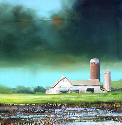 Field. Cloud Painting - Field Puddles by Toni Grote