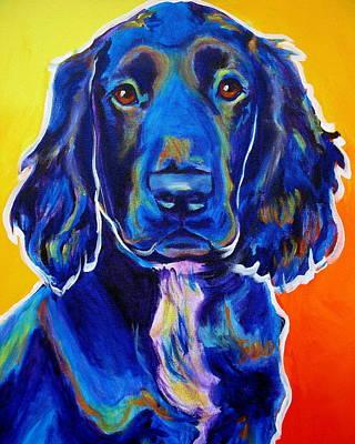Dawgart Painting - Field Retriever - Otis by Alicia VanNoy Call