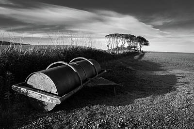Photograph - Field Roller by Dave Bowman