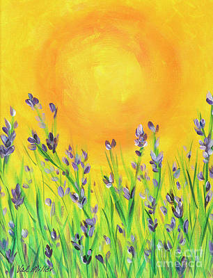 Painting - Field Sunset by Val Miller