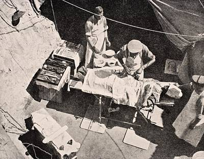 Field Surgery On Gallipoli Peninsula Art Print by Vintage Design Pics