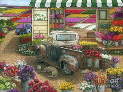 Painting - Field To Vase by Janet Kruskamp