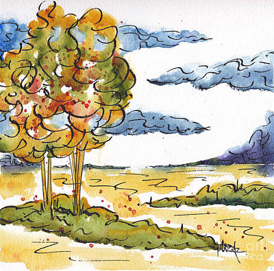 Painting - Field Trees by Pat Katz