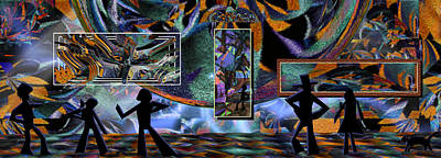 Loon Digital Art - Field Trip,destination...art Gallery by Phil Sadler