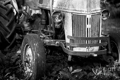 Tractor Photograph - Field Warrior Bw by Patrick M Lynch