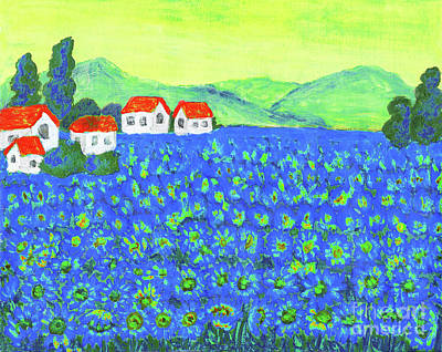 Painting - Field With Blue Flowers by Irina Afonskaya