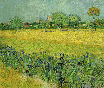 Painting - Field With Flowers Near Arles Van Gogh 1888 by Vincent Van Gogh