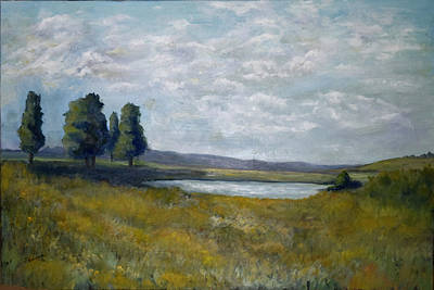 Painting - Field With Pond by Sandra Nardone