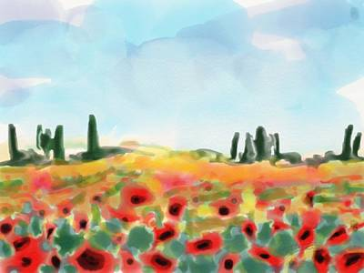 Painting - Field With Poppies by Cristina Stefan