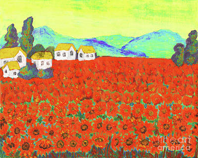 Painting - Field With Red Flowers by Irina Afonskaya