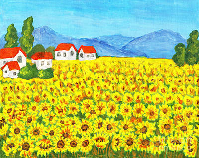 Painting - Field With Sunflowers by Irina Afonskaya