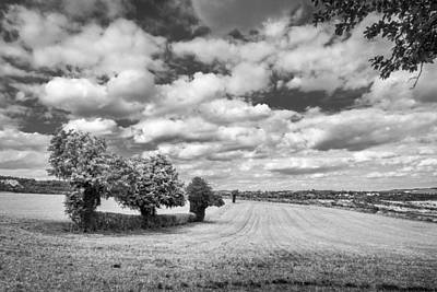 Photograph - Fields And Clouds by Gary Gillette
