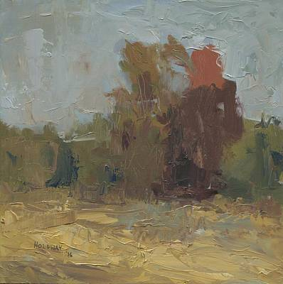 Painting - Fields Edge In Autumn by John Holdway