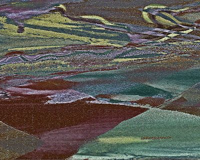 Ditch Painting - Fields From The Air by Lenore Senior