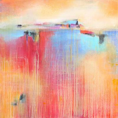 Size Mixed Media - Fields Of Color by Karen Hale