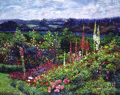 Fields Of Floral Splendor Art Print by David Lloyd Glover
