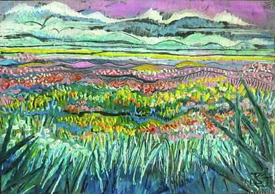 Painting - Fields Of Flowers by Jean Batzell Fitzgerald