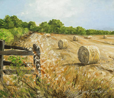 Fields Of Hay Art Print by Marty Garland