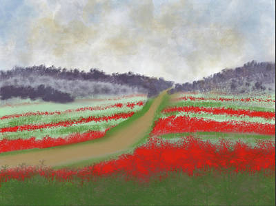 Painting - Fields Of Red by Dick Bourgault