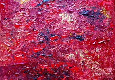 Fields Of Red Art Print by Shelly Wiseberg