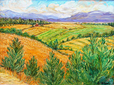 Ithaca Painting - Fields Of Summer by Ethel Vrana