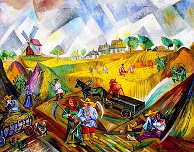 Roussimoff Wall Art - Painting - Fields Of Ukraine by Ari Roussimoff