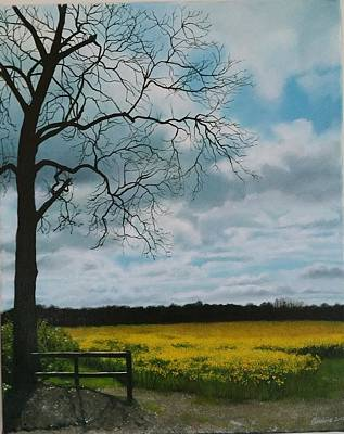 Painting - Fields Of Yellow by Caroline Philp