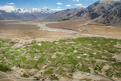 Photograph - Fields Of Zangla, Zanskar, 2008 by Hitendra SINKAR