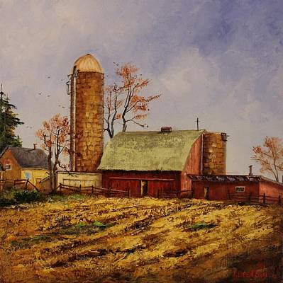 Painting - Fields Ready For Fall by Judy Bradley