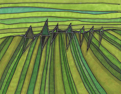Drawing - Fields by Sandra Church